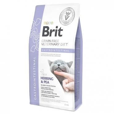 Сухой корм для взрослых кошек, Беззерновая диета при остром и хроническом гастроэнтерите, Brit VD Cat Grain free Gastrointestinal